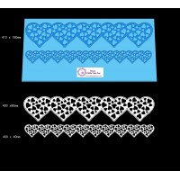 Cake Lace Dual Ribbon Mat For Cake Decoration - Love Hearts Lace Mat